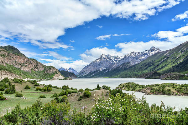 Wall Art - Photograph - Scenic View Of Ranwu Lake In Tibet, China by Julia Hiebaum