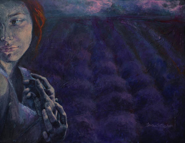Wall Art - Painting - Scent Of Dusk In Provence by Dorina Costras