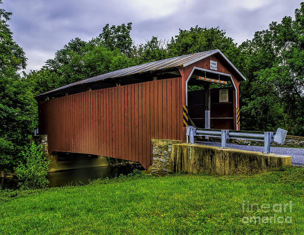 Photograph - The Landis Mill Covered Bridge by Nick Zelinsky