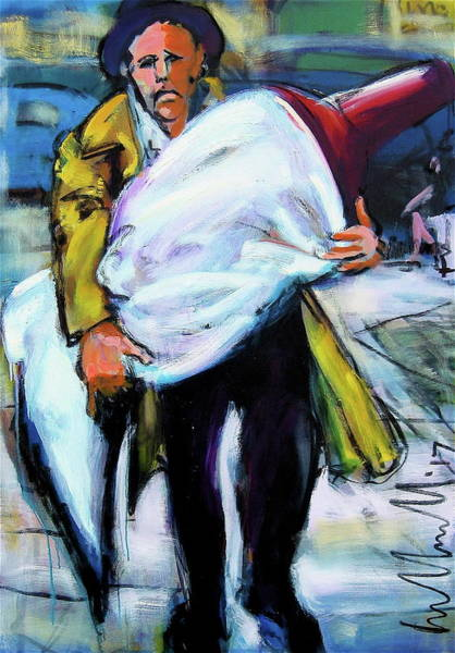 Painting - Schlepping Art by Les Leffingwell