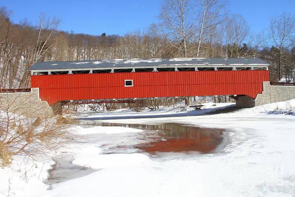 Photograph - Schlicher's Covered Bridge by Ken Keener