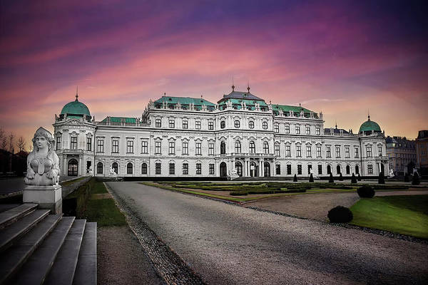 Austrian Wall Art - Photograph - Schloss Belvedere Vienna by Carol Japp