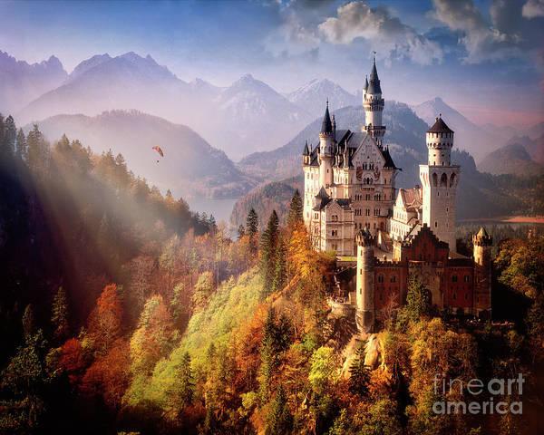 Photograph - Schloss Neuschwanstein by Edmund Nagele