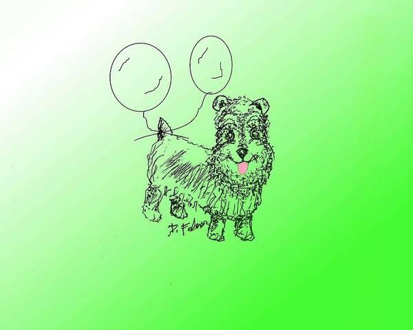 Drawing - Schnauzer by Denise F Fulmer