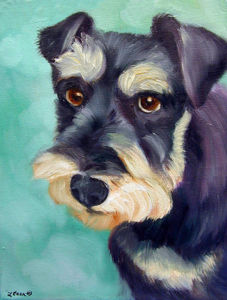 Wall Art - Painting - Schnauzer by Lyn Cook
