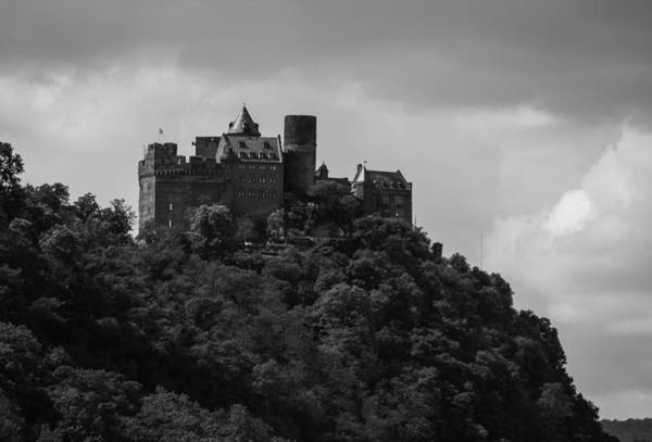 Wall Art - Photograph - Schoenburg Castle Oberwesel Germany B W by Teresa Mucha