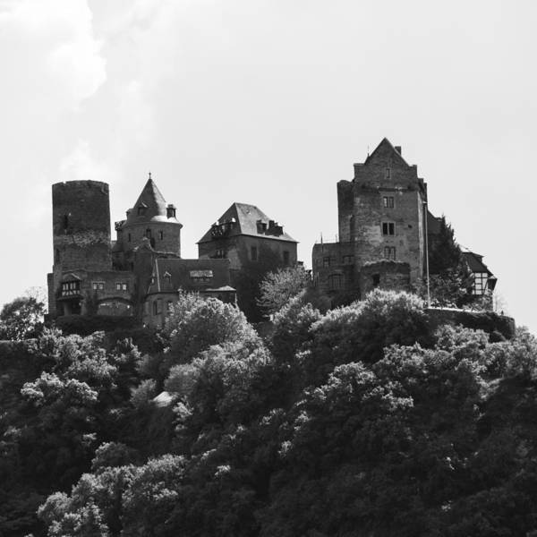 Wall Art - Photograph - Schoenburg Castle Squared B W by Teresa Mucha