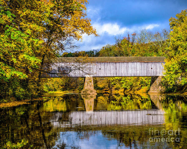 Photograph - Schofield Ford Covered Bridge by Nick Zelinsky