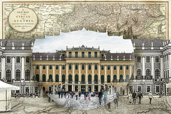 Photograph - Schonbrunn Palace Travel Map Globe by Sharon Popek