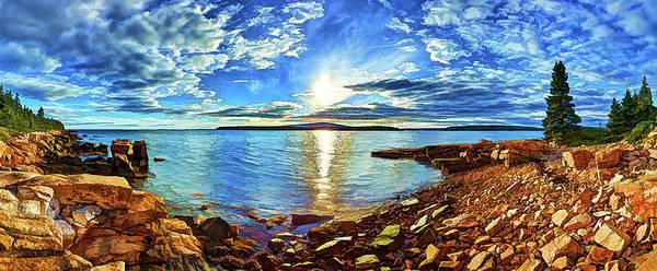 Schoodic Point Cove Art Print