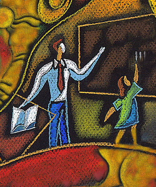 Wall Art - Painting -  School And Education by Leon Zernitsky