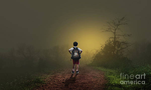Photograph - School Childer by Sajid Ch