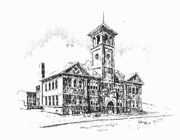 Drawing - School Historic Philipsburg Montana by Kevin Heaney
