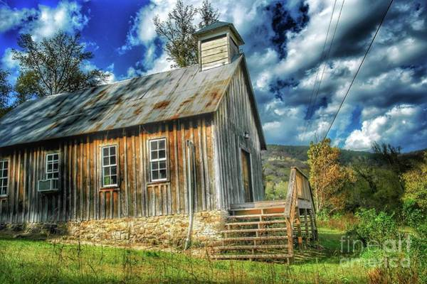 Pioneer School Photograph - School House On A Hill by John Myers