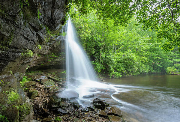Photograph - School House Waterfall In Pisgah National Forest Of North Carolina by Ranjay Mitra