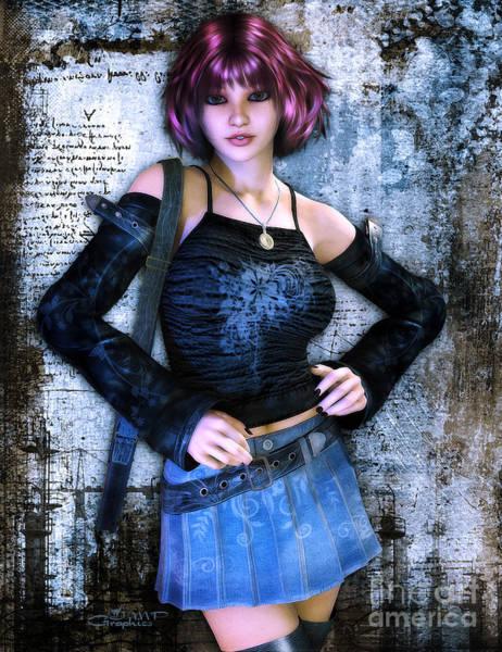 Outfit Digital Art - School Is Out by Jutta Maria Pusl