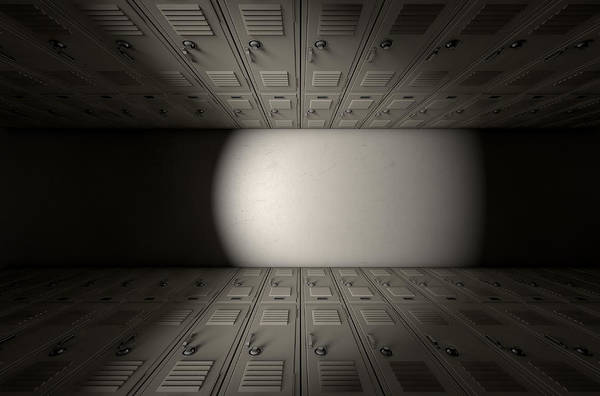 Teenager Digital Art - School Locker Corridor by Allan Swart