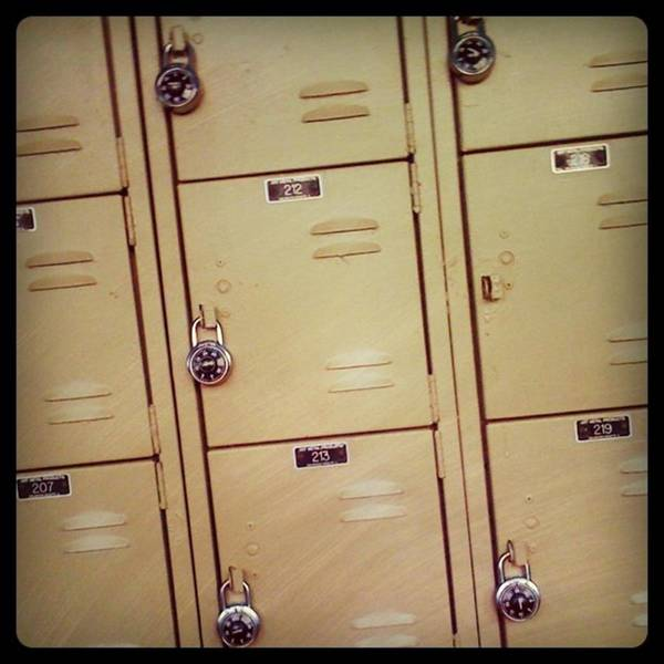 Wall Art - Photograph - School Lockers by Juan Silva