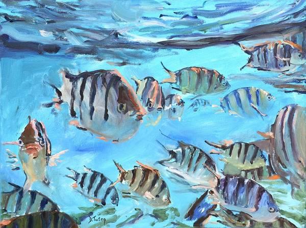 Painting - School Of Sergeant Major Fish by Donna Tuten