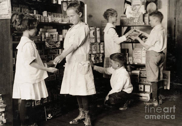 Photograph - School Store, 1917 by Granger
