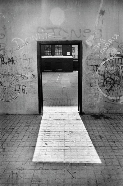 Photograph - School Yard Doorway In Brooklyn by Yuri Lev