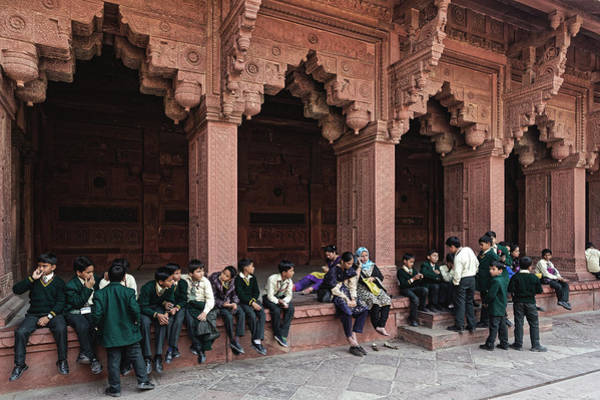 Photograph - Schoolboys At The Agra Fort, 2014 by Chris Honeyman