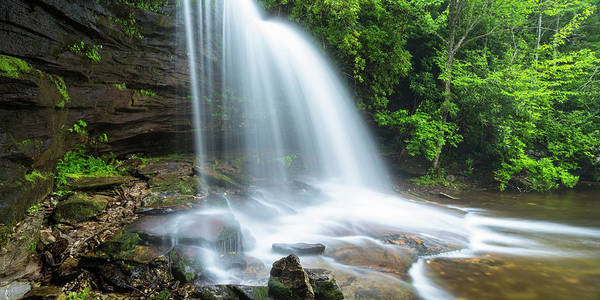 Photograph - Schoolhouse Falls In Nantahala National Forest Panorama by Ranjay Mitra