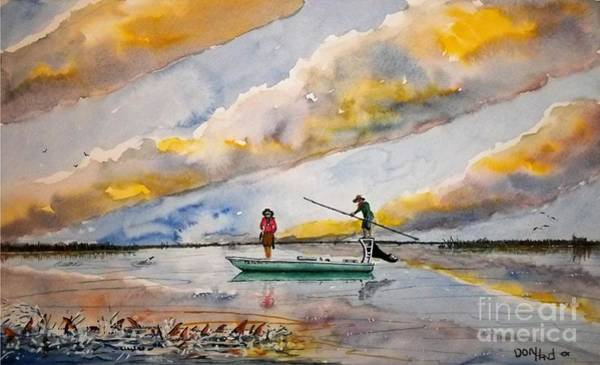 Wall Art - Painting - Schooling Redfish by Don Hand