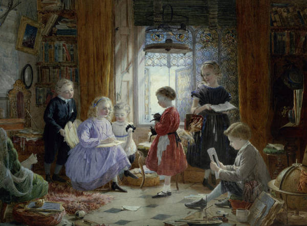 Wall Art - Painting - Schooltime by William Jabez Muckley