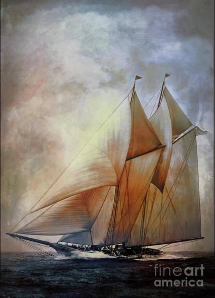 Schooner Digital Art - Schooner America In 1910.   by Andrzej Szczerski