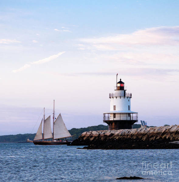 Photograph - Schooner At Spring Point, South Portland, Maine 58757 by John Bald