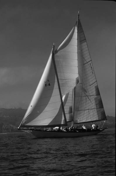 Photograph - Schooner In Bay 2 by David Shuler