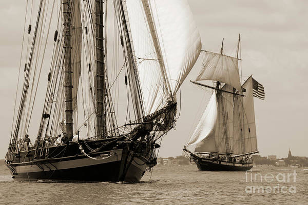 Wall Art - Photograph - Schooner Pride Of Baltimore And Lynx by Dustin K Ryan