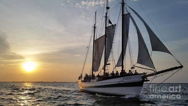 Wall Art - Photograph - Schooner Pride Sunset Charleston South Carolina by Dustin K Ryan