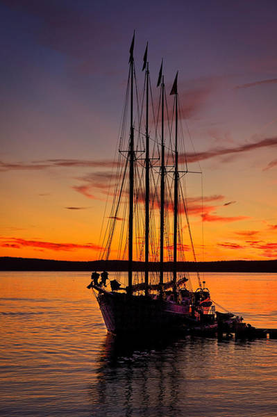 Photograph - Schooner Sunrise #5 by Stuart Litoff