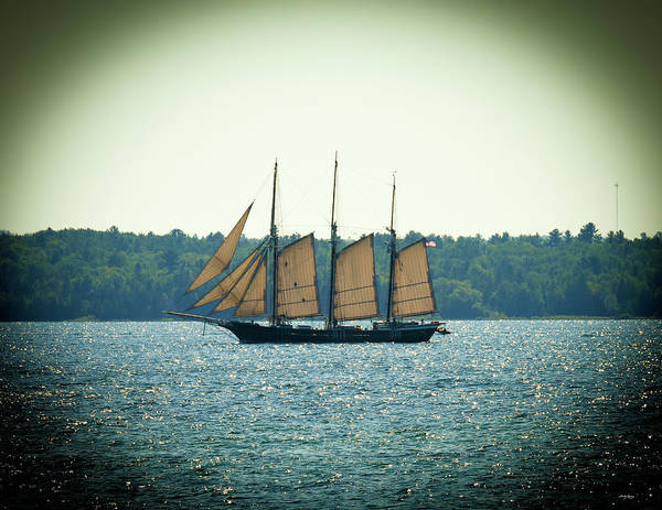 Photograph - Schooners Still Sail In The Straits Of Mackinac by Sally Sperry