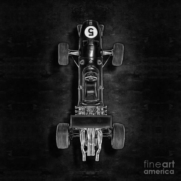 Boys Room Photograph - Schuco Ferrari Formel 2 Top Bw by YoPedro