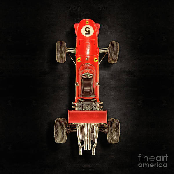 Wall Art - Photograph - Schuco Ferrari Formel 2 Top On Black by YoPedro
