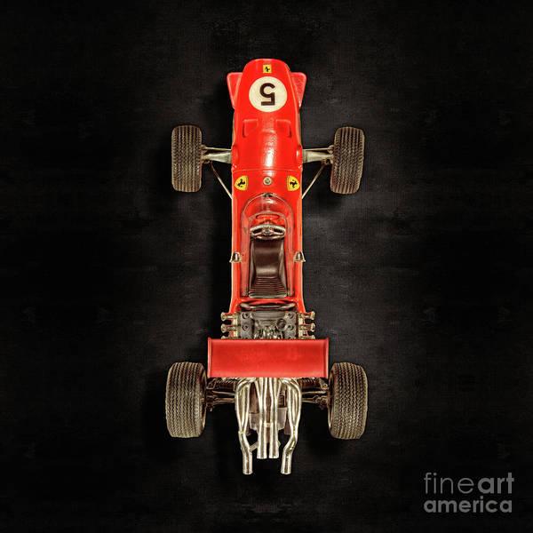 Boys Room Photograph - Schuco Ferrari Formel 2 Top On Black by YoPedro