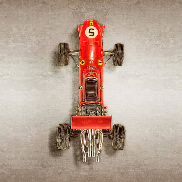 Boys Room Photograph - Schuco Ferrari Formel 2 Top by YoPedro