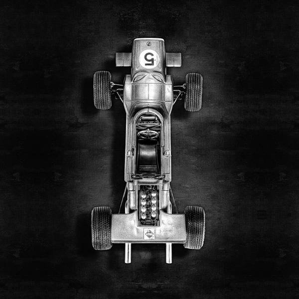 Wall Art - Photograph - Schuco Matra Ford Top Bw by YoPedro