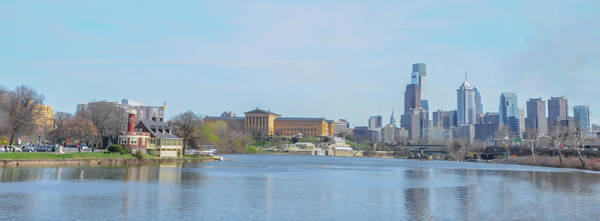 Photograph - Schuykill River Panorama - Philadelphia by Bill Cannon