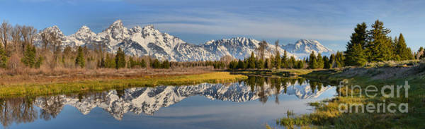 Photograph - Schwabacher Morning Wide Panorama by Adam Jewell