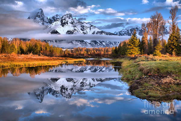Photograph - Schwabacher Spring Sunrise Reflections by Adam Jewell