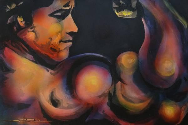 Painting -  Schwarzeneggah by Eric Dee