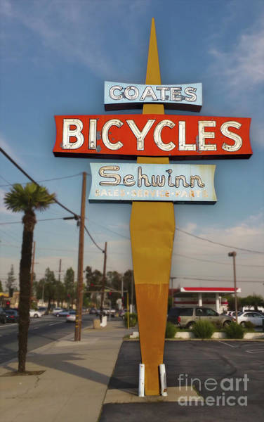 Photograph - Schwinn Bicycles Sign by Gregory Dyer