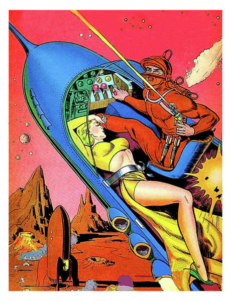 Wall Art - Painting - Sci-fi Comic Book Cover by Long Shot
