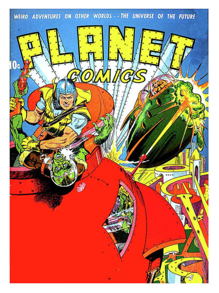 Wall Art - Painting - Sci-fi Comic Book Cover, Weird Adventures On Other Worlds by Long Shot