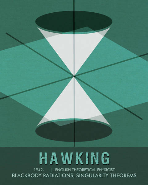 Technology Mixed Media - Science Poster - Stephen Hawking - Theoretical Physicist by Studio Grafiikka