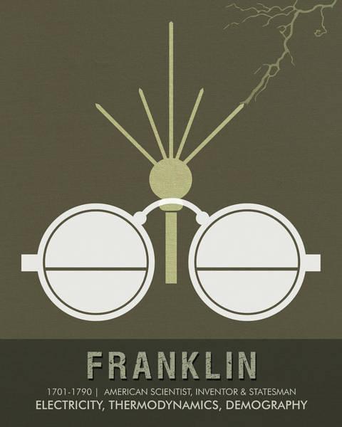 Technology Mixed Media - Science Posters - Benjamin Franklin - Scientist, Inventor, Statesman by Studio Grafiikka